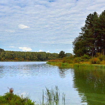 autumn, river and pines..., Canon EOS 1100D, Canon EF-S 18-55mm f/3.5-5.6 IS STM