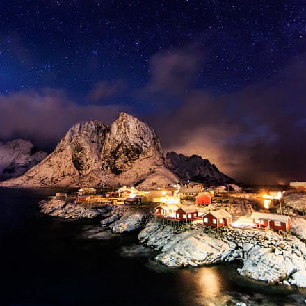 Starry Skies Over Hamn, Canon EOS 5D MARK III, Canon EF 14mm f/2.8L II USM