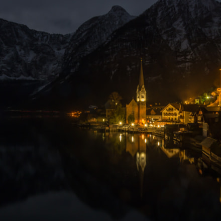 Hallstatt At Night, Pentax K-5, smc PENTAX-DA 18-135mm F3.5-5.6 ED AL [IF] DC WR