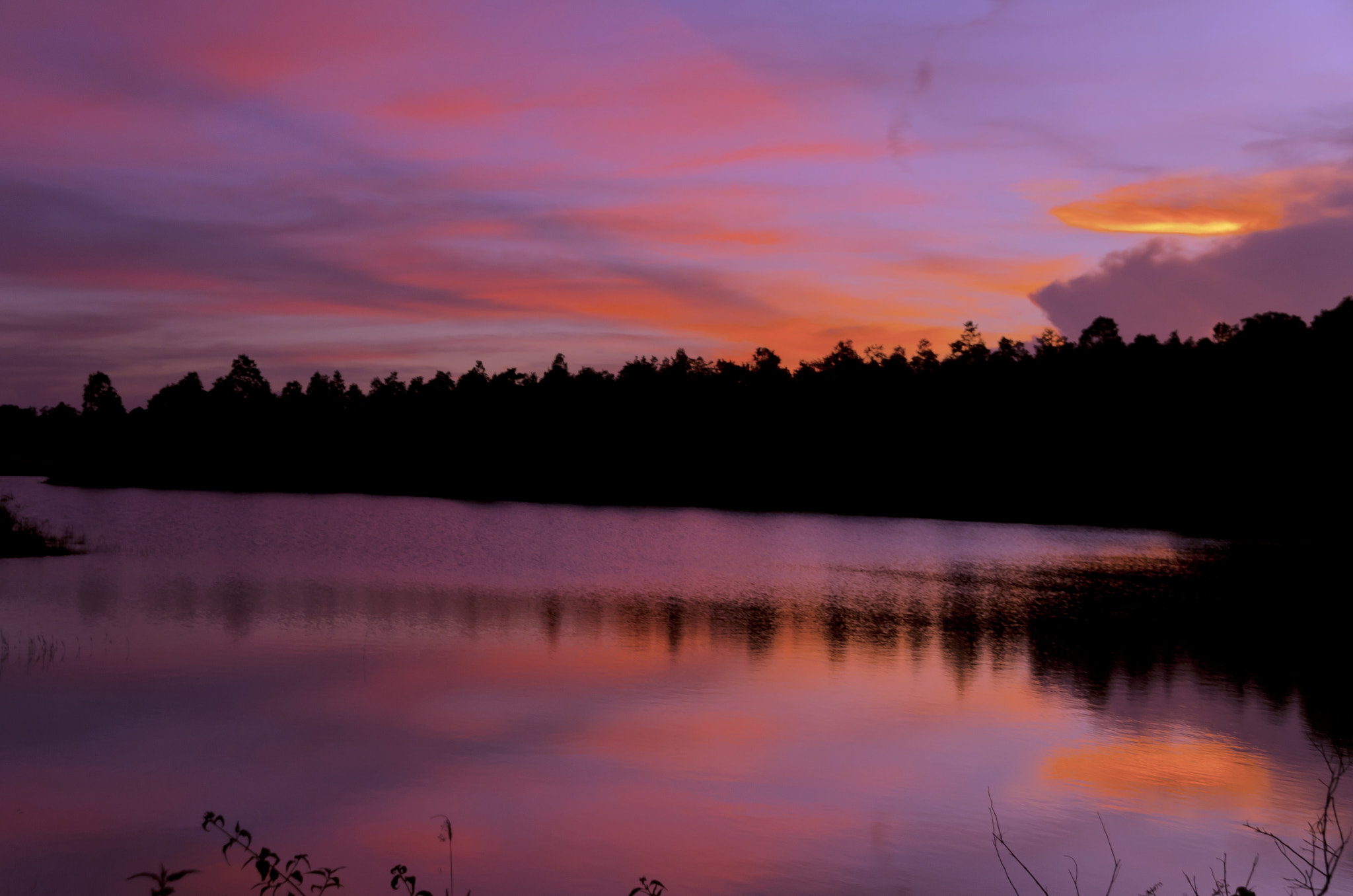 Photograph Sunset at Khao Yai National Park in Thailand by Sirinun Kaewchampa on 500px