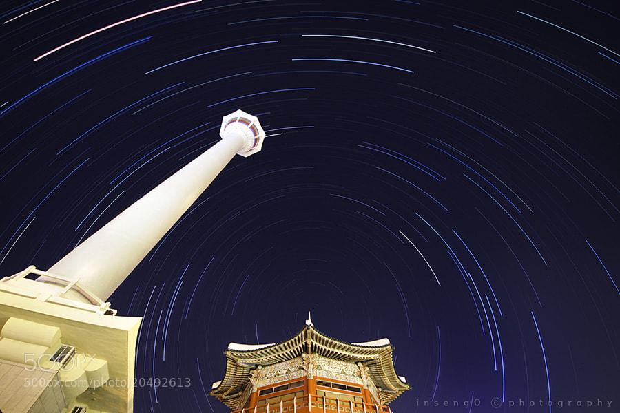 Photograph Startrails at yongdusan Park by chan-wook Kim on 500px