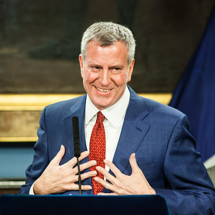 Mayor Bill De Blasio, Canon EOS 5D MARK II, Canon EF 200mm f/2.8L II