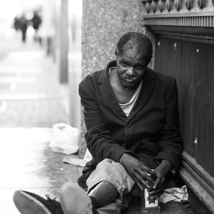 Homeless people in New, Nikon D750, AF-S Nikkor 58mm f/1.4G