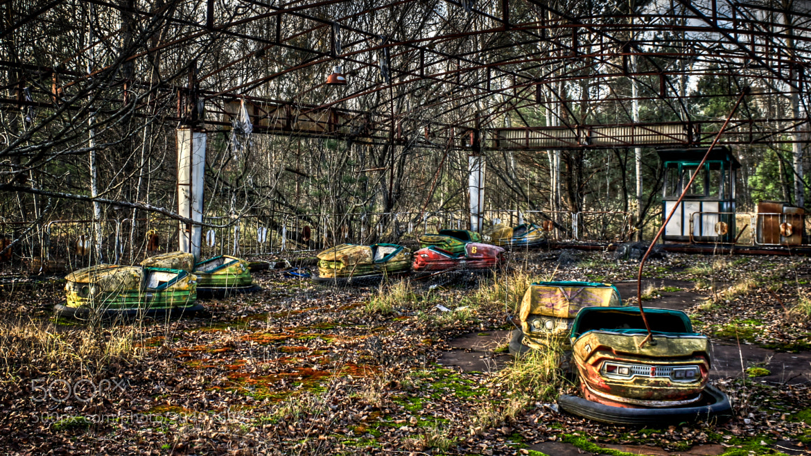Photograph Pripyat: Bumper Cars by Barry Mangham on 500px