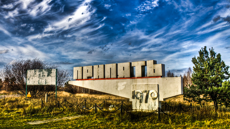 Pripyat: City Sign by Barry Mangham on 500px.com