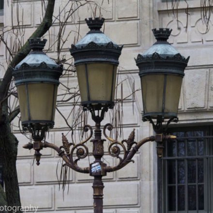 Street lamps in Paris, Canon EOS REBEL T3, Sigma 150-500mm f/5-6.3 APO DG OS HSM