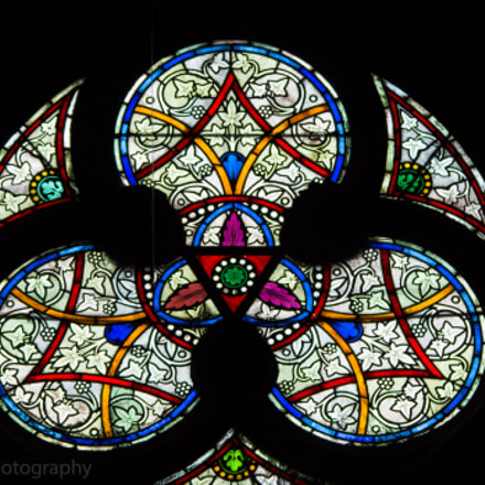 Vitral in Sacre Coeur, Canon EOS REBEL T3, Sigma 150-500mm f/5-6.3 APO DG OS HSM
