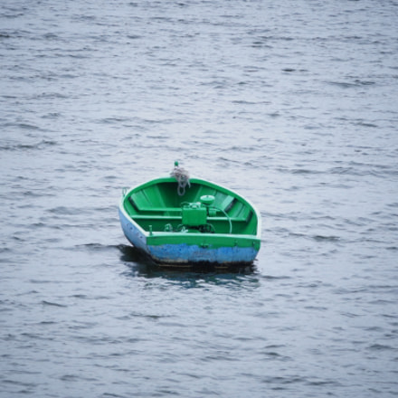 A Lonely Boat, Sony SLT-A58, Sony DT 55-200mm F4-5.6 SAM (SAL55200-2)