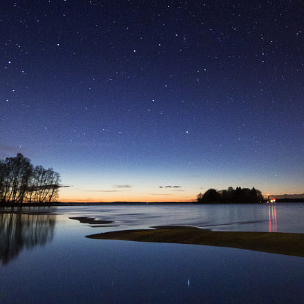 Sunset and stars, Canon EOS 70D, Sigma 10-20mm f/4-5.6