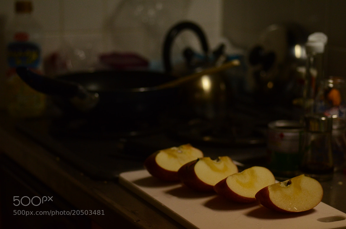 Photograph four pieces of apple by Sayaka Suzuki on 500px