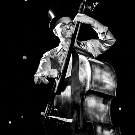 The old contrabass player, Canon EOS 7D, Canon EF 28-80mm f/3.5-5.6