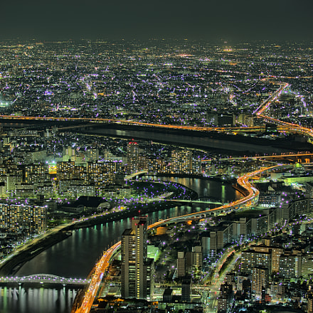 Tokyo from above, Canon EOS 5D MARK III, Canon EF 70-200mm f/2.8L IS II USM