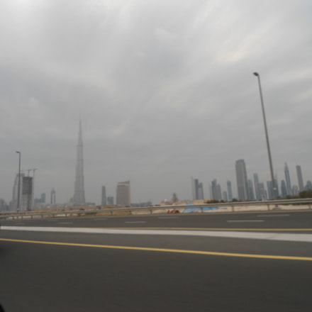 Burj from the car, Sony DSC-W510
