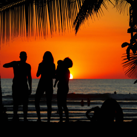 Atardecer en Playa Jaco, Canon EOS KISS X7, Canon EF-S 55-250mm f/4-5.6 IS STM