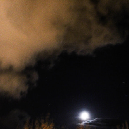 Clouds Near Moon, Canon EOS 700D, Canon EF-S 18-55mm f/3.5-5.6 IS STM