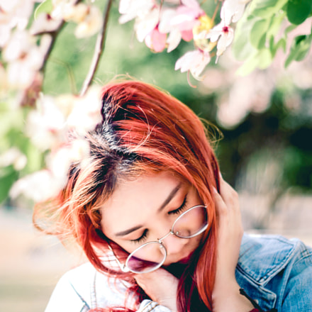 red hair, Canon EOS 450D, Canon EF 50mm f/1.8 II