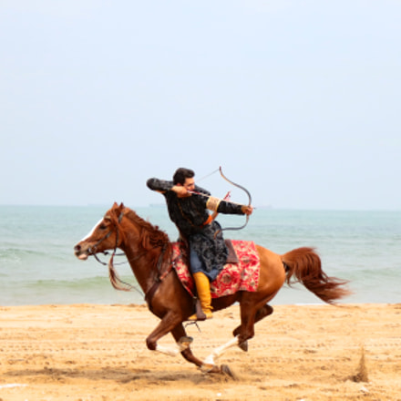 horse & hunter, Canon EOS 750D, Canon EF-S 18-55mm f/3.5-5.6 IS STM