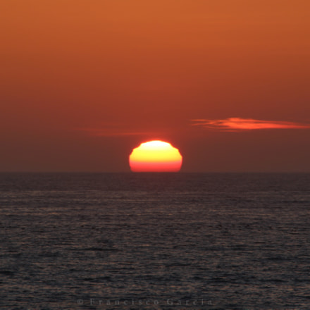 Sunset, Canon EOS 100D, Canon EF-S 55-250mm f/4-5.6 IS STM