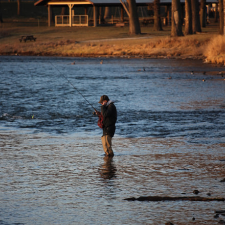 Fishing, Canon EOS REBEL T5I, Canon EF-S 55-250mm f/4-5.6 IS STM