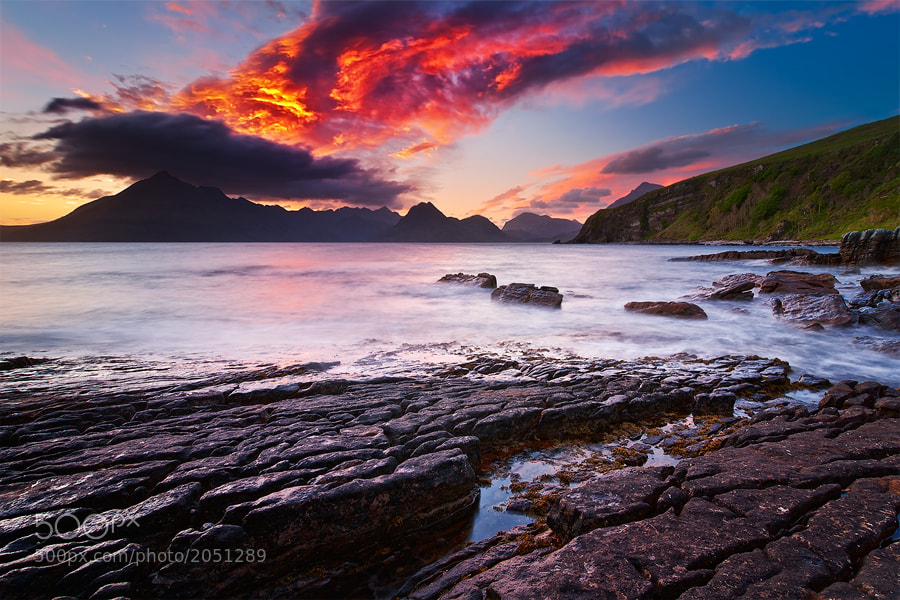 Photograph Elgol's Fire by Michael  Breitung on 500px