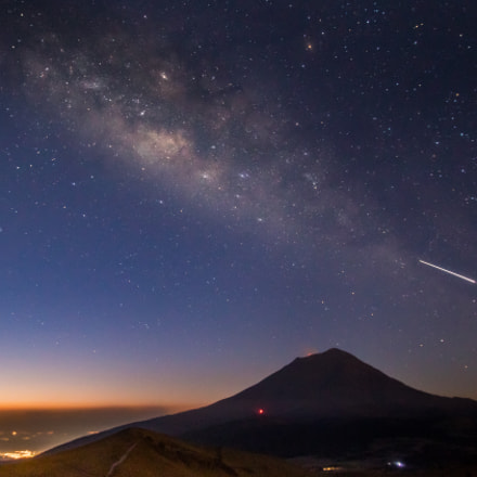 Popocatepetl and Milkyway, Canon EOS REBEL T6S, Canon EF-S 10-22mm f/3.5-4.5 USM
