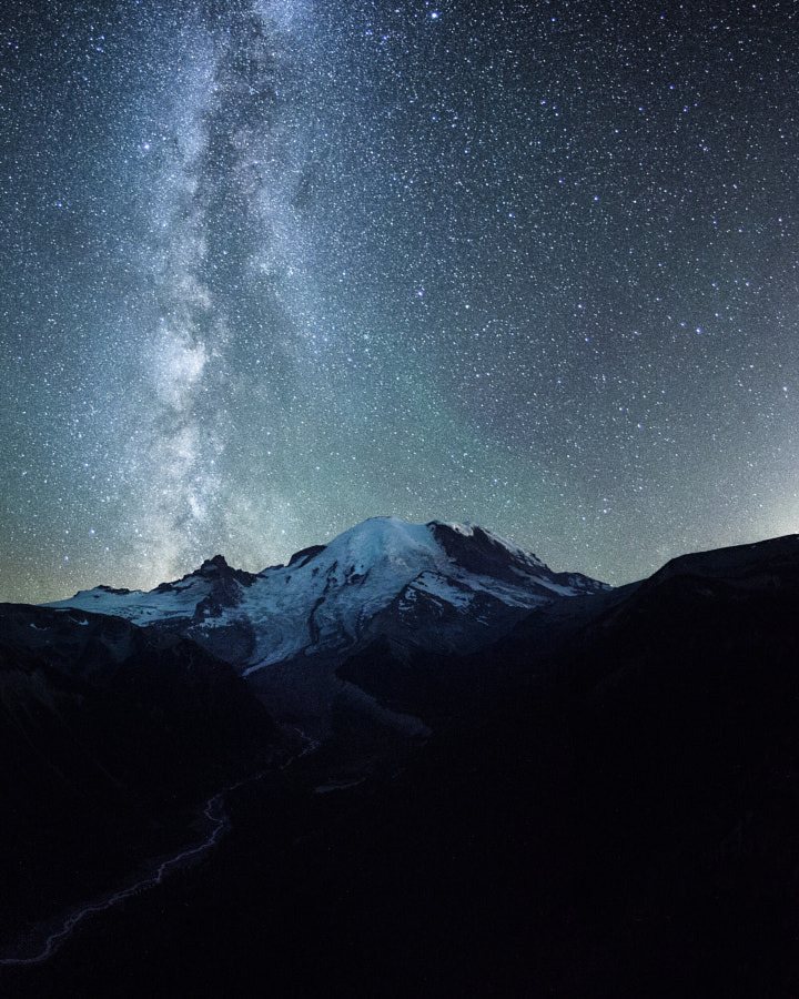 milky way. mount rainier. washington. by Tanner Wendell Stewart on 500px.com