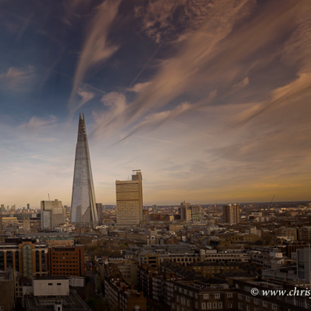 Sunset over the Shard, Nikon D600, Sigma 24mm F1.8 EX DG Aspherical Macro