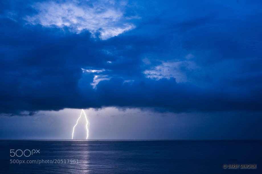 Photograph Lightning into the Ocean by Darby Sawchuk on 500px