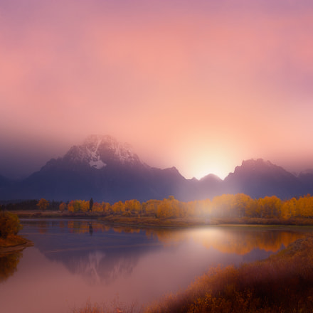 Oxbow Bend Sunset, Canon EOS D60