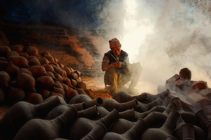 Nepalese potter,Bhaktapur Nepal by Saravut Whanset on 500px.com