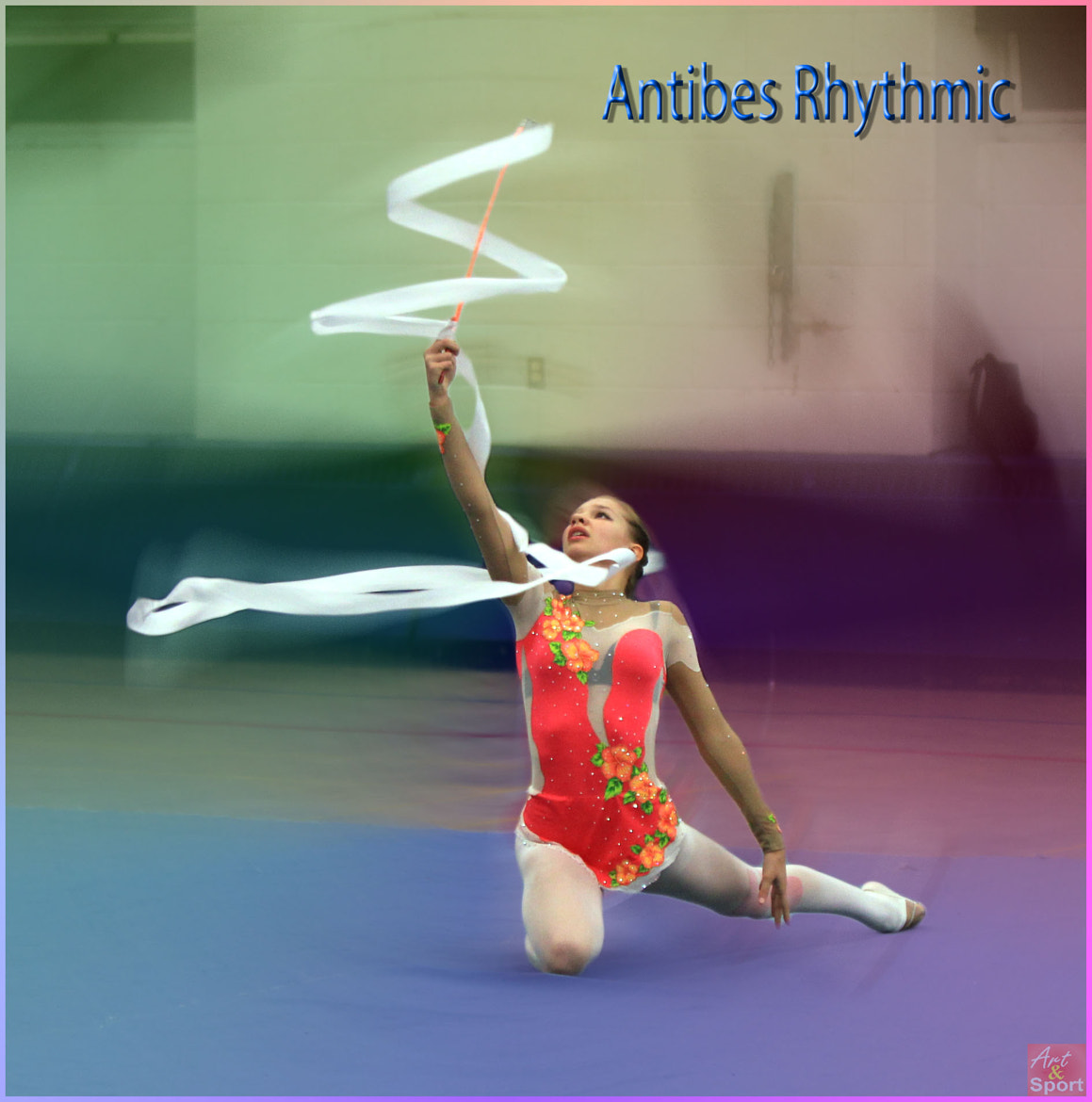 Photograph Ribbon routine by Antibes Rhythmic on 500px