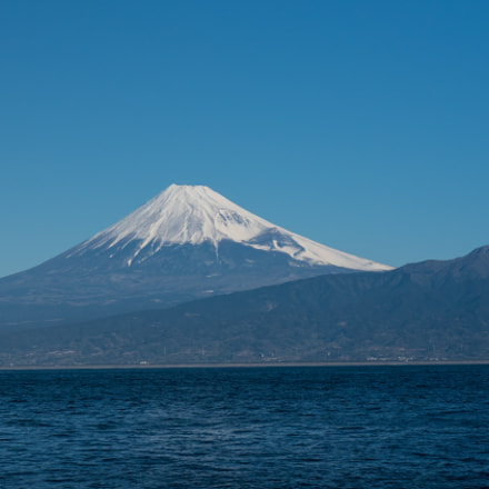 Mt Fuji from Osezaki, Panasonic DMC-GH4, Lumix G X Vario 35-100mm F2.8 Power OIS