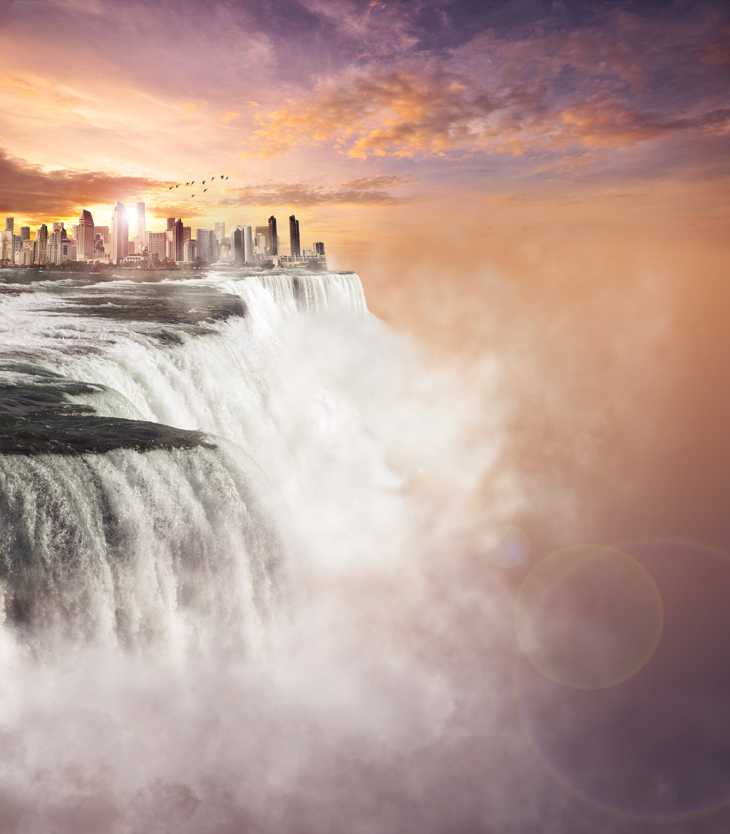Photograph City falling off the edge of the world by Kevin Carden on 500px
