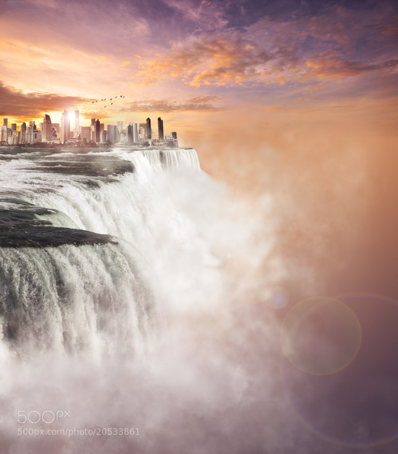 City falling off the edge of the world by Kevin Carden (cardensdesign)) on 500px.com