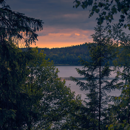 lake at summer evening..., Canon EOS 1100D, Canon EF-S 18-55mm f/3.5-5.6 IS STM