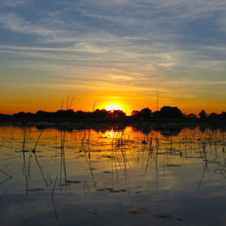 Sunset on the Okavango, Canon POWERSHOT SX230 HS