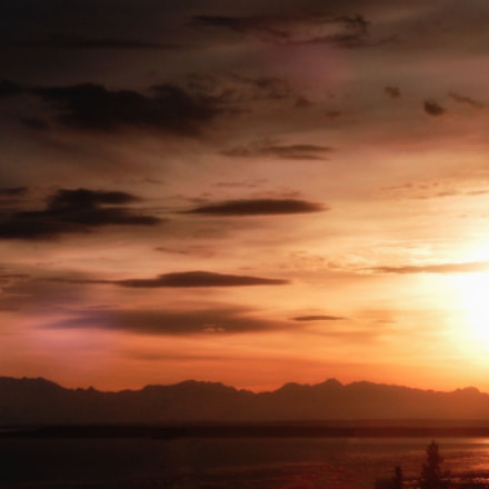 Sunset Over Cook Inlet, Nikon COOLPIX S9500