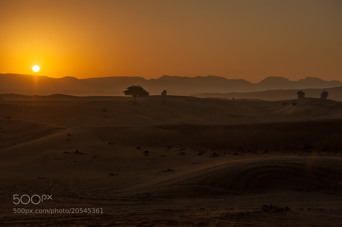 Photograph Sunrise in the desert by Alan Story on 500px