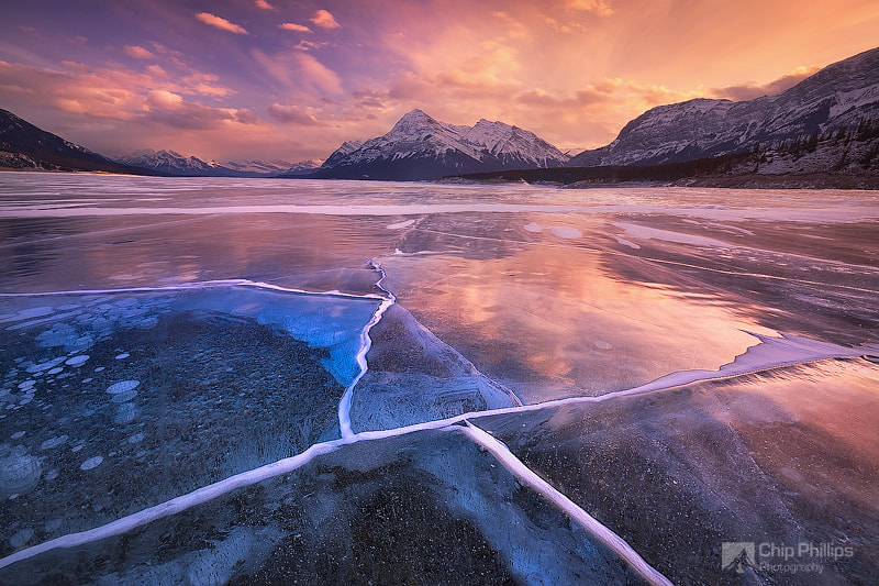 Photograph Abraham Lake Sunset by Chip Phillips on 500px