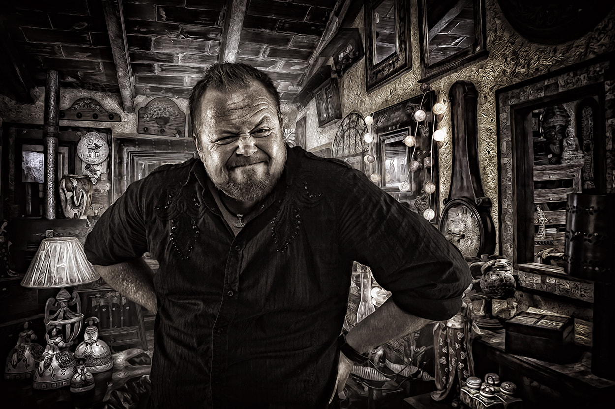 Photograph mad shopkeeper by Torkil Storli on 500px