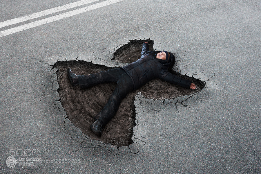 Photograph Asphalt Angel by Lev Savitskiy on 500px