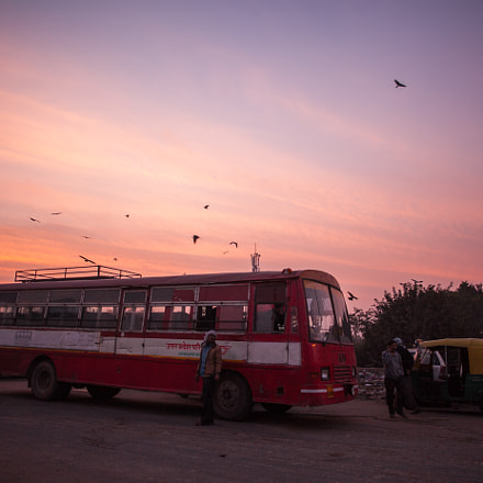 Morning in New Delhi, Canon EOS 5D MARK II, Canon EF 24mm f/2.8