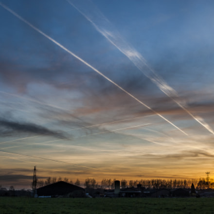 Sunset over Holland, Nikon D200, Sigma 18-50mm F2.8 EX DC