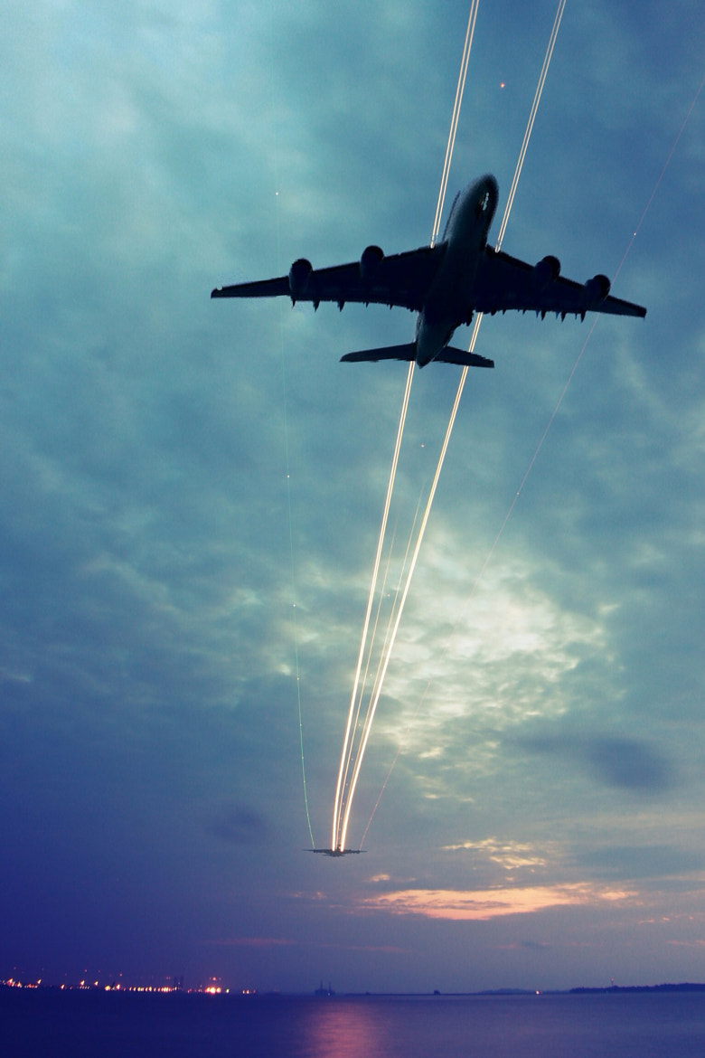 Photograph The Airplane Path by Teelip Lim on 500px