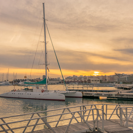Sunset at the Port, Sony DSC-RX10, 24-200mm F2.8
