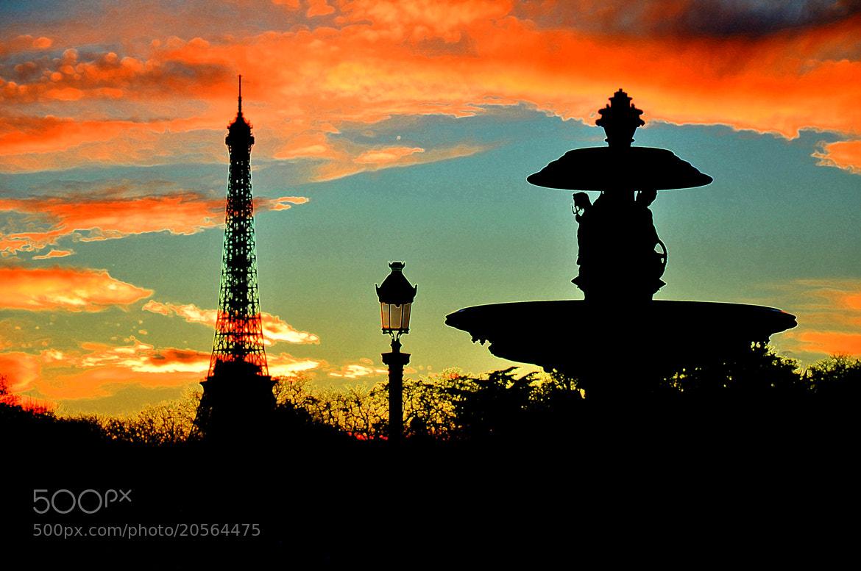 Photograph Surrealistic Paris Skyline by Rick Campanella on 500px