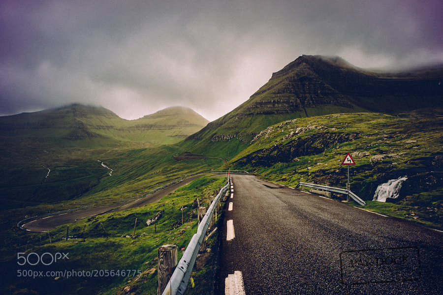 The road to Funningur II - Faroe Islands