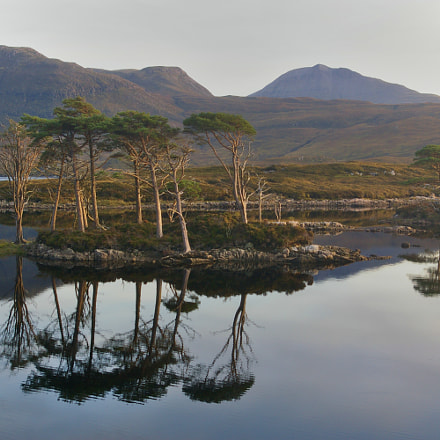 Loch Assynt at sunset, Pentax K100D, smc PENTAX-DA 18-55mm F3.5-5.6 AL