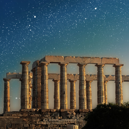 Temple of Poseidon at, Sony DSC-H20