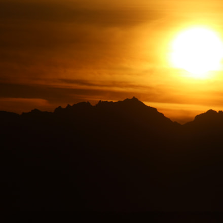 Beautiful mountain sunset, Canon EOS REBEL T3I, Canon EF 75-300mm f/4-5.6 USM